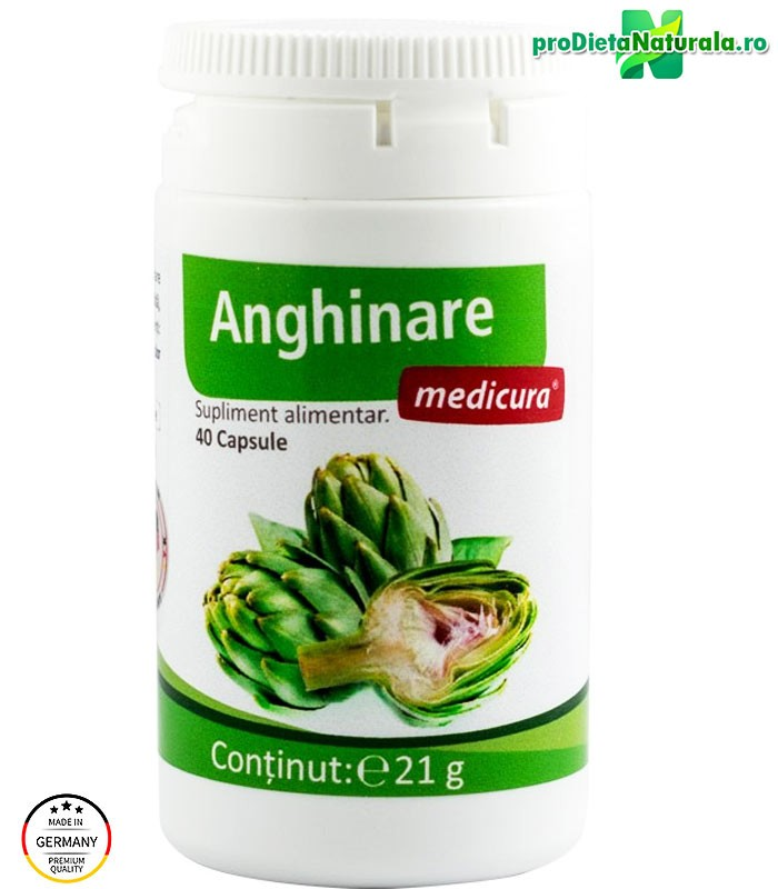 ANGHINARE extract Tratament 20 zile / 40 cps