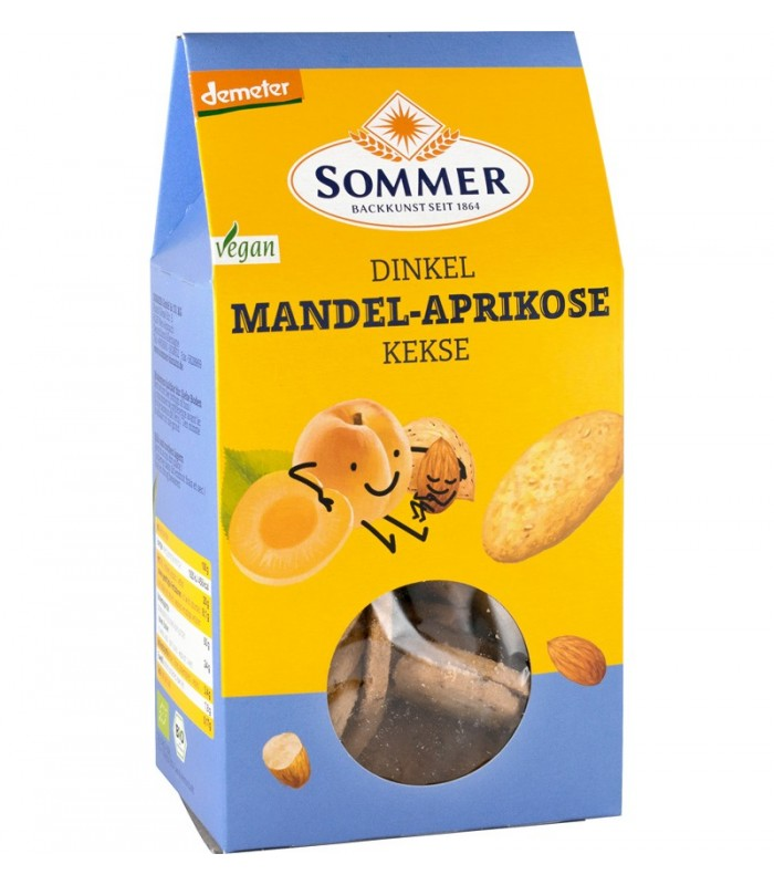 BISCUITI BIO CU MIGDALE SI CAISE, 150G SOMMER