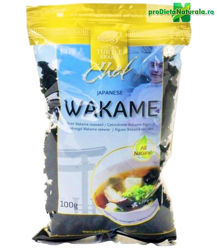 Wakame alge uscate GOLDEN TURTLE 100 g