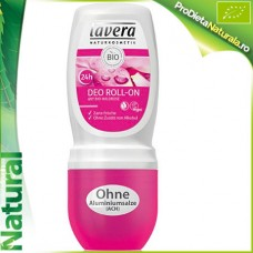 Deodorant Roll on (Fara ALUMINIU!) 24H WildRose Lavera 50 ml