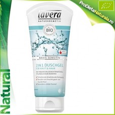 Gel de dus 2 in 1 piele si par LAVERA BIO TUB 200 ml