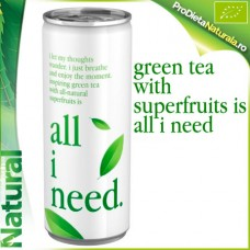 All I Need BIO Ceai Verde + Super Fructe 250 ml