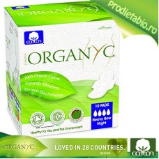 Absorbante speciale pt. NOAPTE din Bumbac Organic 10 bc.