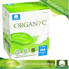 Absorbante speciale pt. ZI Bumbac Organic 10 bc.